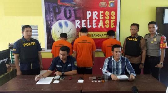 Tim gabungan Polres Bateng, kembali berhasil ungkap pelaku penyalahgunaan narkoba di wilayah Bangka Tengah