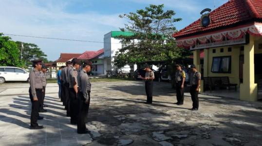 Polres Bangka Tengah gelar jam pimpinan serentak di Polsek Jajaran