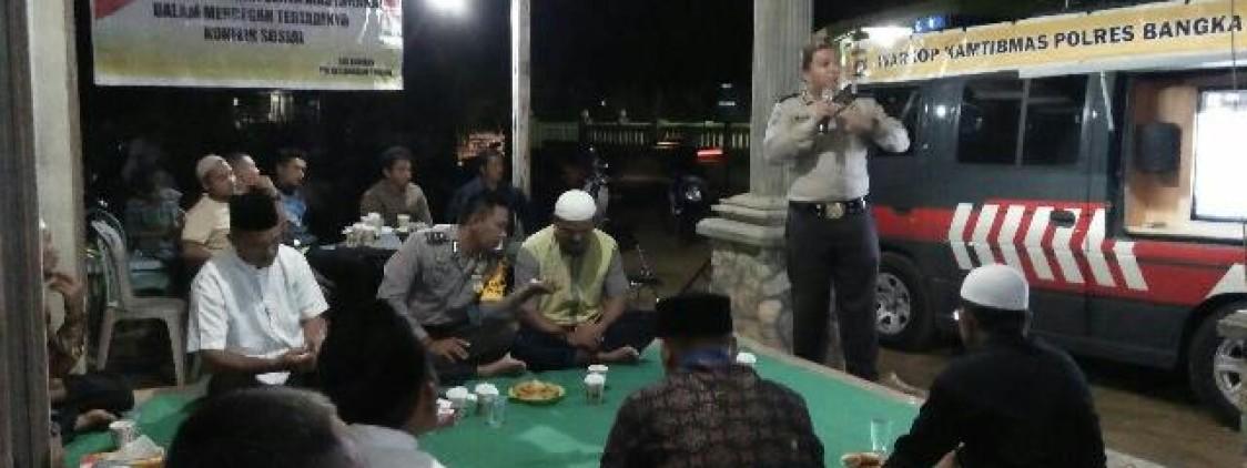WARKOP KAMTIBMAS GELAR FGD DI DESA SUNGKAP KABUPATEN BANGKA TENGAH