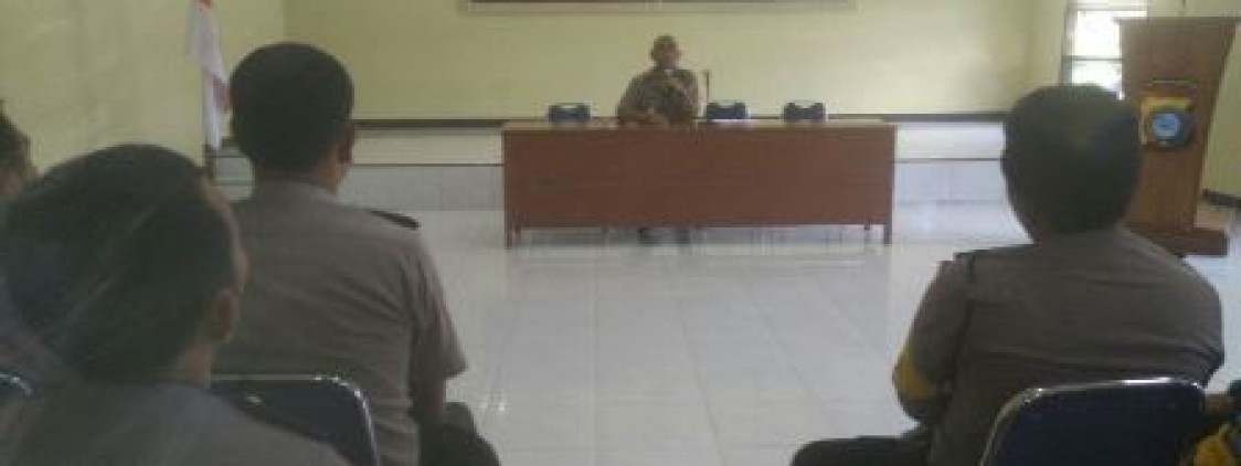 WAKA POLRES BATENG INGATKAN BHABINKAMTIBMAS TENTANG PROGRAM PROAKTIF DAN BABEL GUN