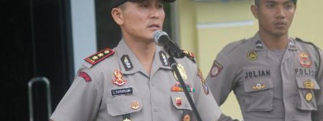 kapolres Bateng Puji Sinergitas Polsek Simpang Katis dan Unit Laka Lantas