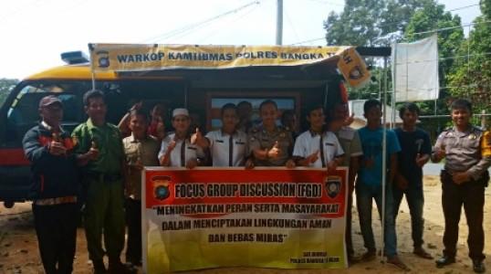 Buka Warkop Kamtibmas Di desa Teru, Akp Junaidi Ajak Warga Cegah Miras
