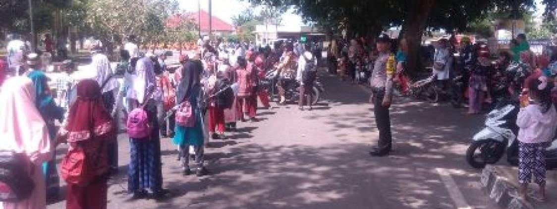 1500 Peserta Padati jalan Koba Dalam Rangka Pawai Pembukaan MTQ tingkat kecamatan