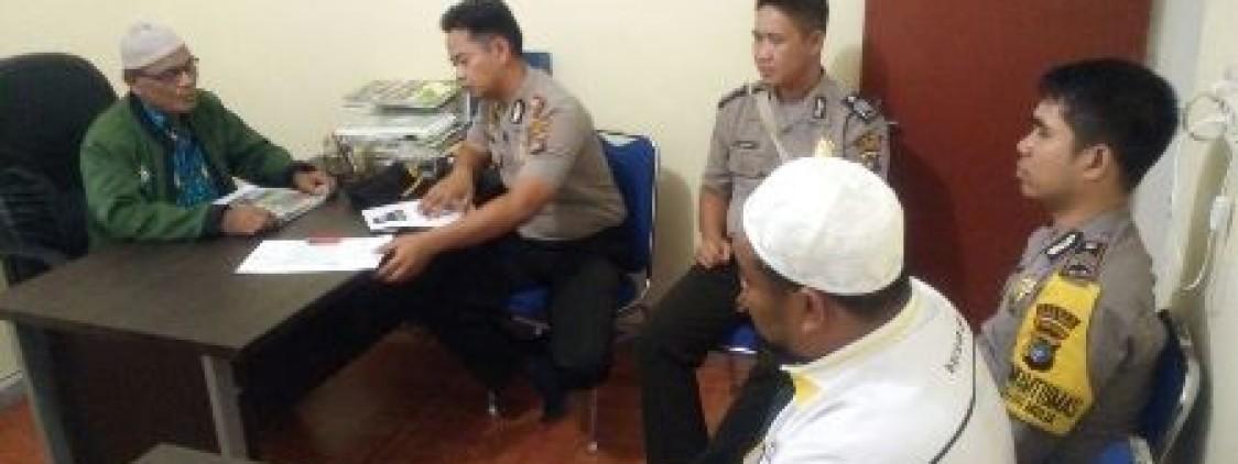 Kapolsek Koba Sambangi Ketua MUI Bangka Tengah