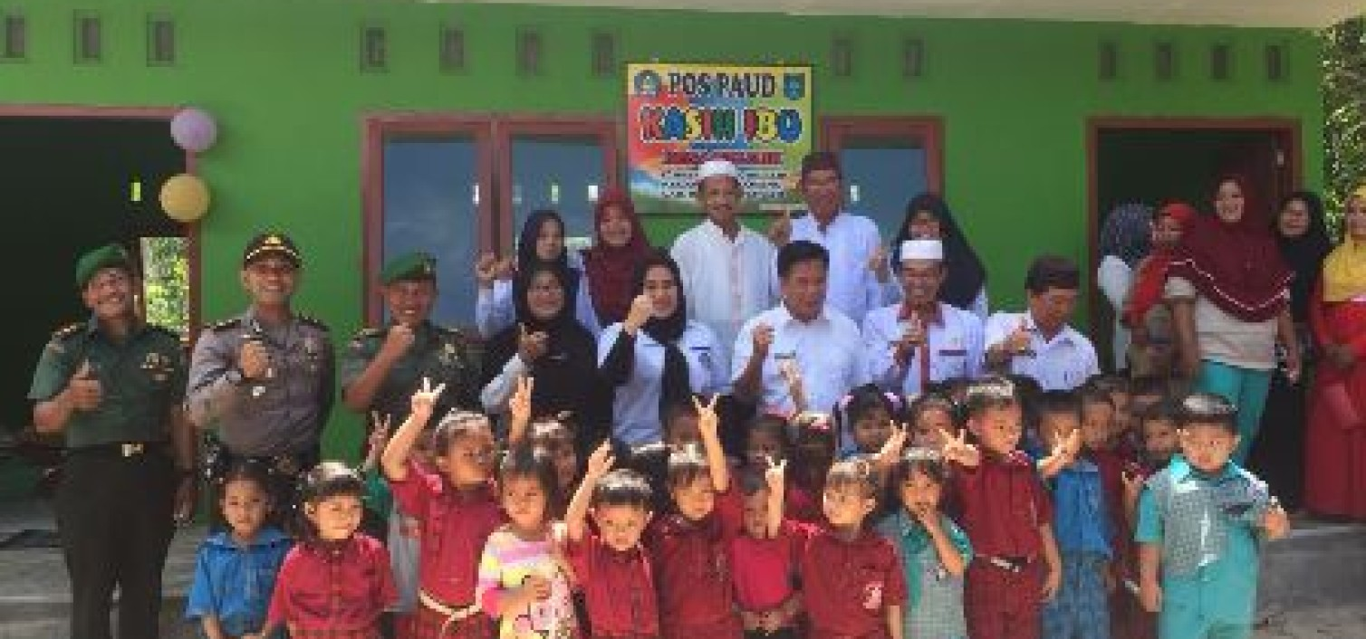 Kapolsek Namang  hadiri Peresmian Gedung PAUD Kasih Ibu Desa Belilik Oleh Bupati Bateng