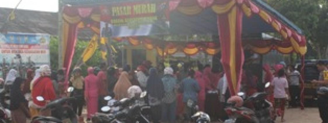 Kurang Dari 2 Jam Pasar murah Polres Bateng Ludes Diserbu Warga