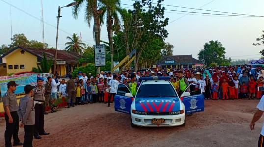 Polisi Amankan 700 Peserta Jalan Santai HUT Kota Koba Ke-164.