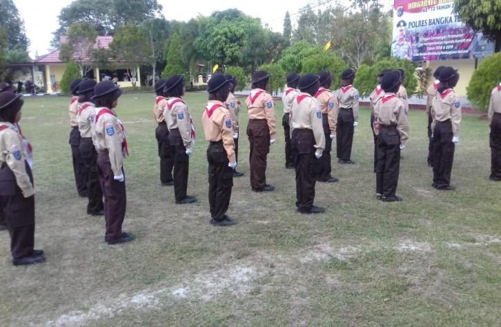 Memeriahkan HUT Ri ke 73 Polres Bangka Tengah Gelar Lomba Pocil dan Mewarnai.