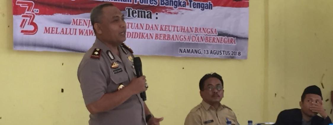 Bekerja Sama Dengan Dinas Pendidikan Bangka Tengah Dan STKIP Muhammadiyah, Polres Bangka Tengah Adakan Seminar Kebangsaan