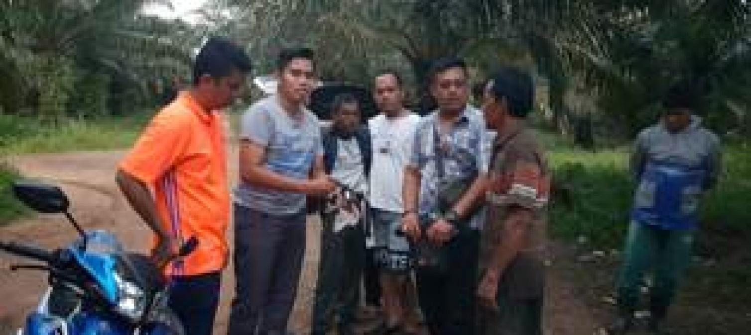 Meresahkan Warga, Unit Reskrim Polsek Sungaiselan Tangkap Orang tua Bersenpi Rakitan