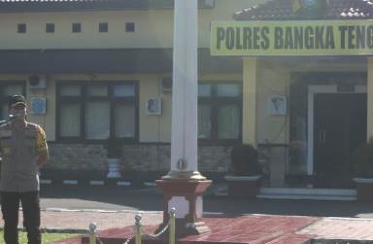 Polres Bangka tengah Siagakan 482 Personil Gabungan pada Pilkades Serentak Kabupaten Bangka tengah