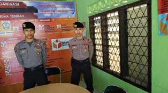 Menjelang Pemilu Polres Bangka Tengah Perkuat Keamanan di Objek Vital