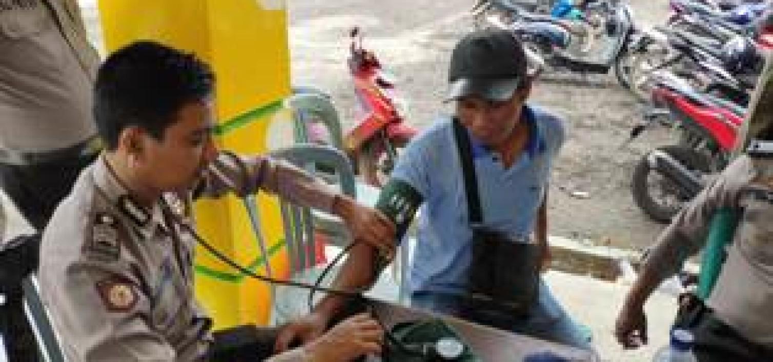 Langkah Proaktif Urdokkes Cek Kesehatan Personil Ke Lokasi Pengamanan