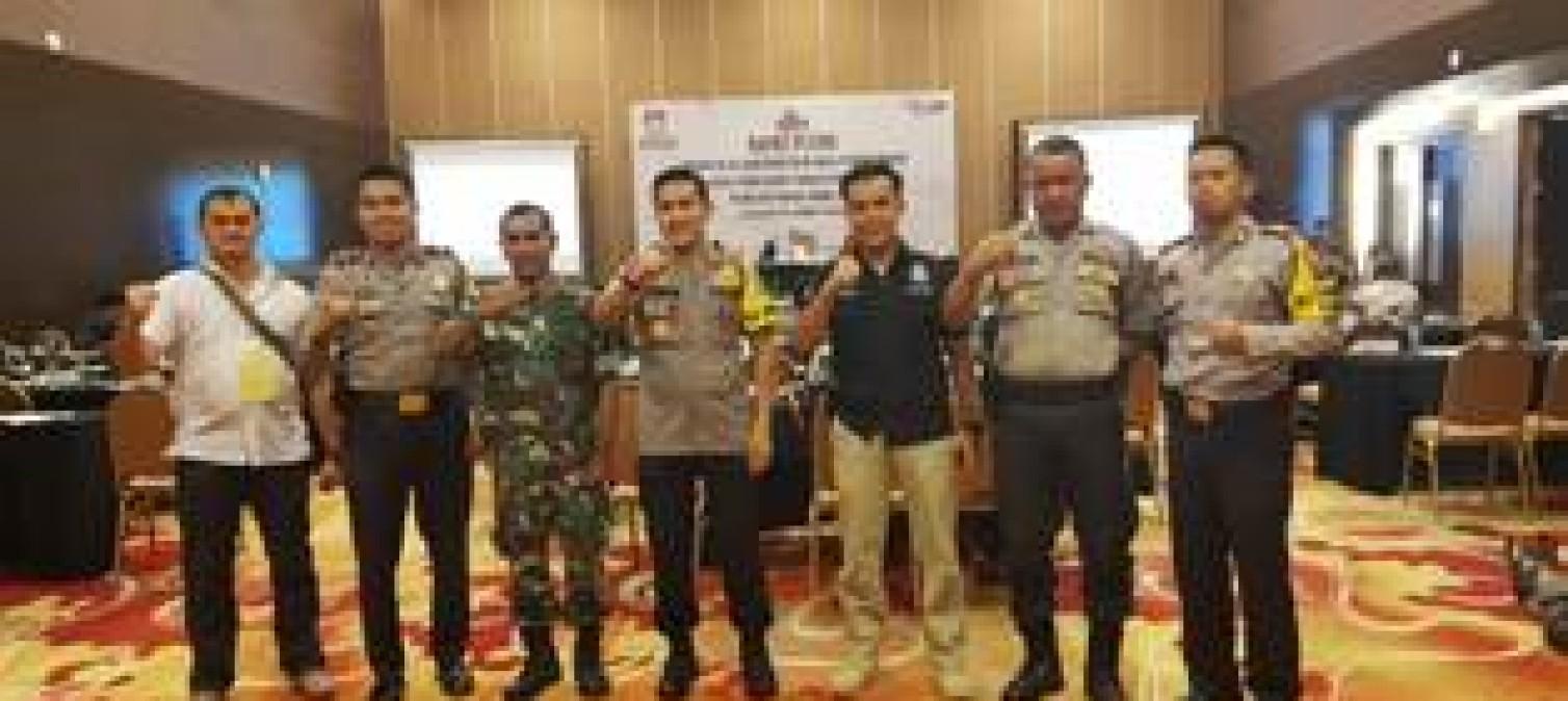 Pengamanan Pleno KPU tingkat Kabupaten Bangka tengah Berlangsung Hingga Dini Hari