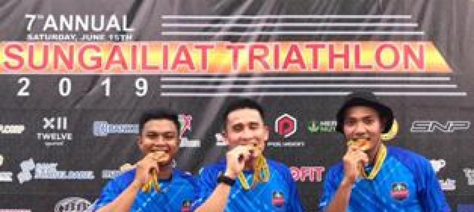 Kapolres Bateng Ikut Berkompetisi Di Sungailiat Triathlon 2019