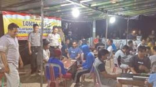 Polres Bangka Tengah Gelar Lomba Gaple Di Kampung Tertib Lalu Lintas