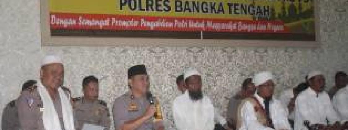 Hut Bhayangkara Polres Bangka tengah Gelar Dzikir Dan Doa Bersama Majelis Az Zikra