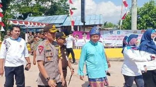 55 Personil gabungan Polres Bangka Tengah dan Polsek Koba Amankan Harganas ke-XXVI