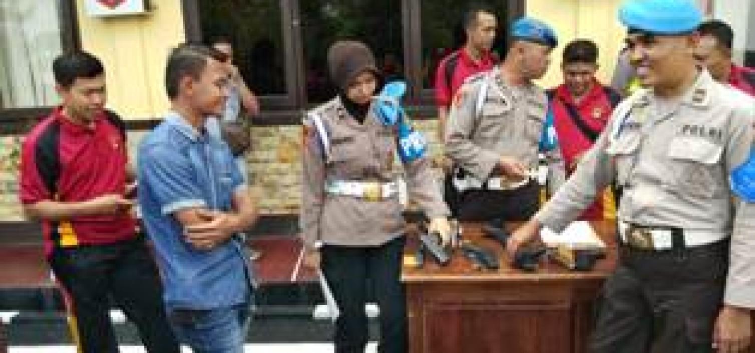 Propam Polda Kep Bangka Belitung Periksa Senjata Api Dinas Polres Bangka Tengah