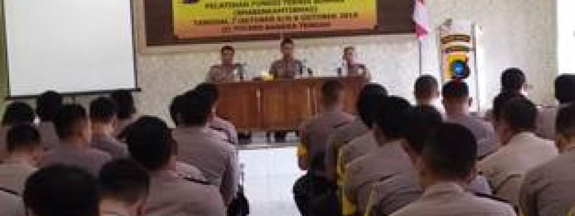 Kapolres Bangka tengah Buka Pelatihan Fungsi Teknis Binmas