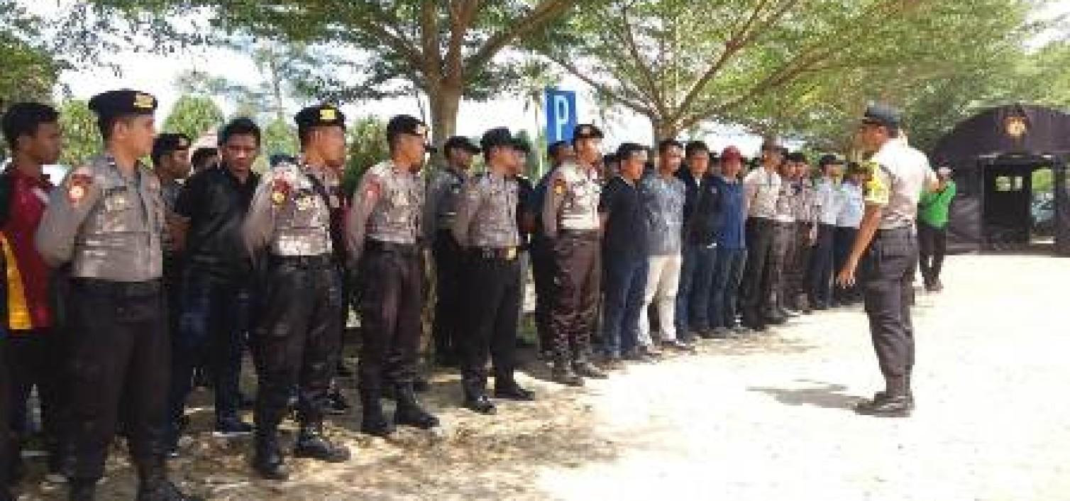 Polres Bangka Tengah Siagakan 94 Personil Pengamanan Jambore Komunitas Bulan Pengurangan Resiko Bencana