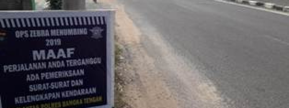 Ops Zebra Polres Bateng Keluarkan 543 Berkas Tilang