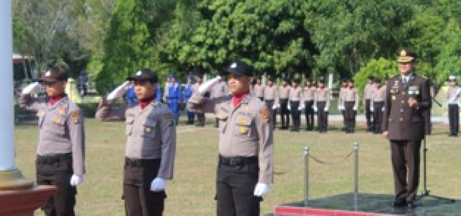 10 November, Polres Bangka Tengah Gelar Upacara Peringatan Hari Pahlawan