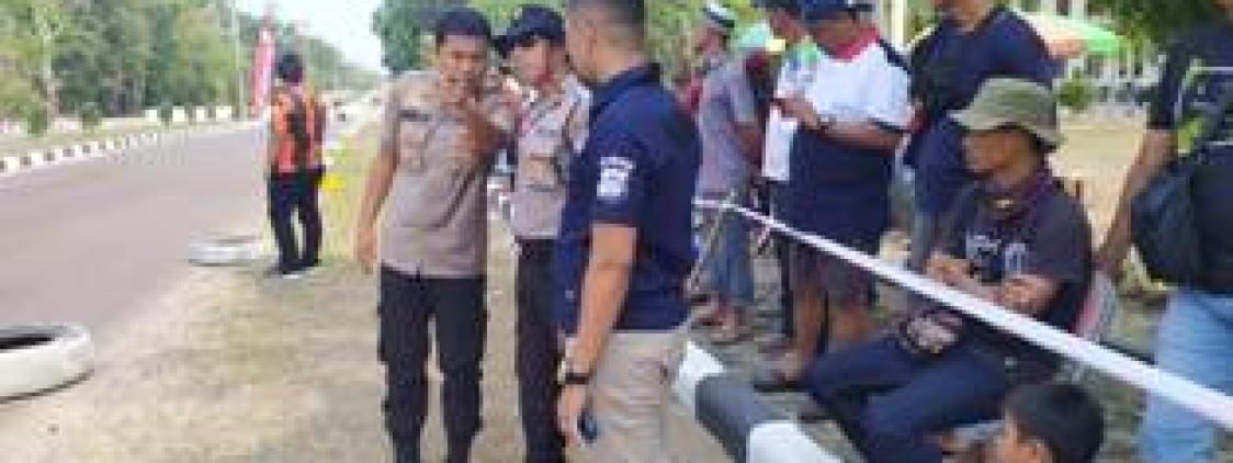 Polres Bangka tengah Laksanakan Pengamanan Pada Road race Piala Bupati