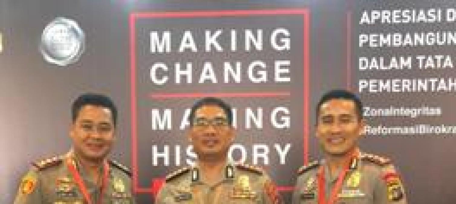 Selamat ! , Polres Bangka Tengah Sandang Predikat Wilayah Bebas Dari Korupsi