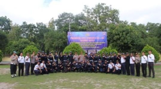 Upacara Hut Satpam, Kapolres Bateng : Tanamkan Kebanggaan dan Kehormatan