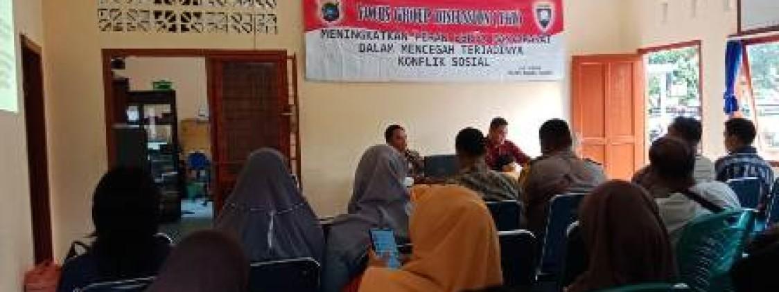 Cegah Konflik Sosial, Sat Binmas Polres Bangka tengah Gelar FGD