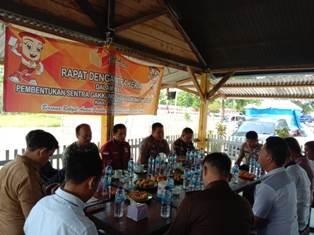 (Rapat Pembentukan Sentra Gakkumdu Bangka tengah)