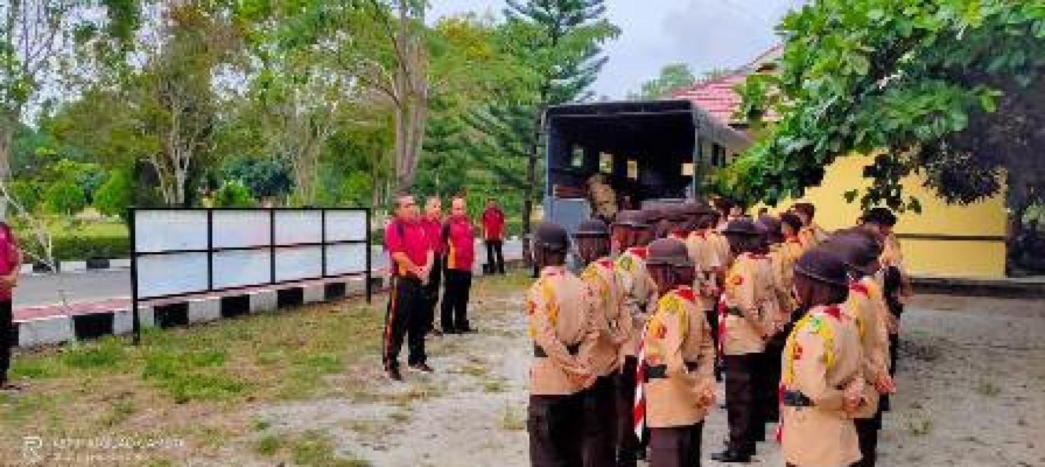 Waka Polres Bangka tengah Lepas Saka Bhayangkara Kemah 3 Hari