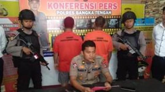 Polres Bangka tengah Tangkap Pengedar Narkotika Dikalangan Penambang