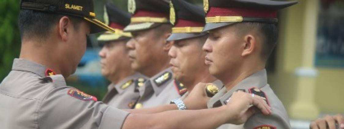 Kapolres Bangka tengah Gelar Sertijab Dua Pejabat Polres Bangka tengah