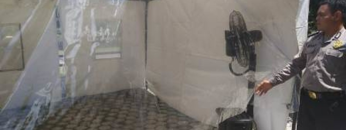 Polres Bangka tengah Sediakan Fasilitas Desinfektan Chamber