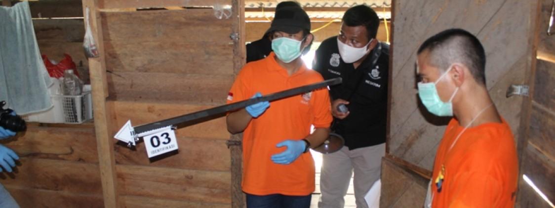 Didampingi Jaksa, Penyidik Gelar Rekontruksi Pembunuhan Di Belilik