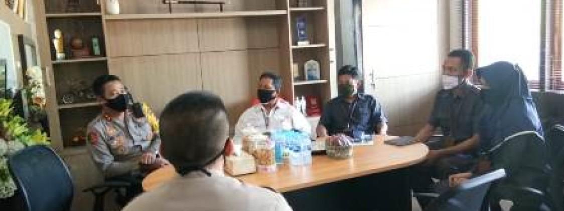 kapolres bangka tengah terima kunjungan Silaturahmi Kepala Badan Pusat Statistik Kab. Bangka Tengah