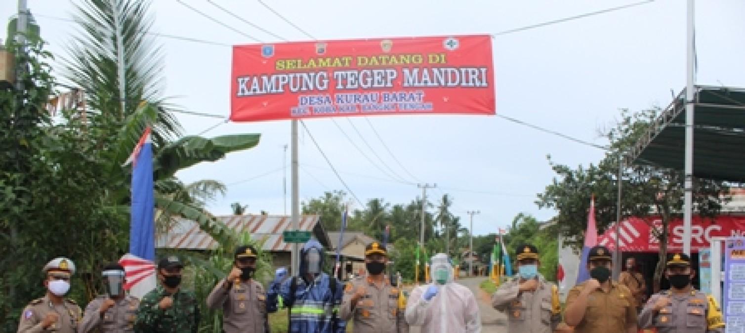 Kapolres bangka tengah lakukan pengecekan  kesiapan Kampung Tegep Mandiri di Desa Kurau Barat
