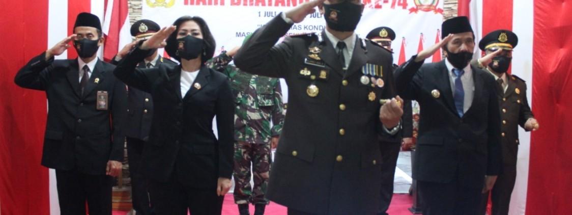 Polres bangka tengah gelar upacara secara video conference