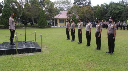 Kapolres bangka tengah Lantik 23 Personil Bintara Naik Pangkat TMT 1 Juli 2020