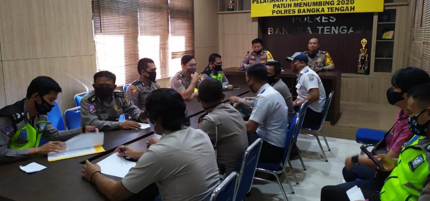 Operasi Patuh 2020, Polres Bangka Tengah gelar Latihan Pra Ops