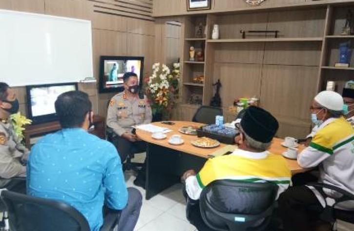 Kapolres Bangka Tengah terima kunjungan baznas Kab.Bateng