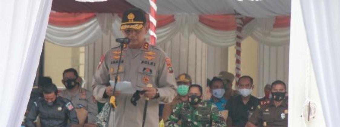 Kapolda pimpin apel gelar pasukan OPS mantap praja menumbing 2020 Polres Bangka tengah