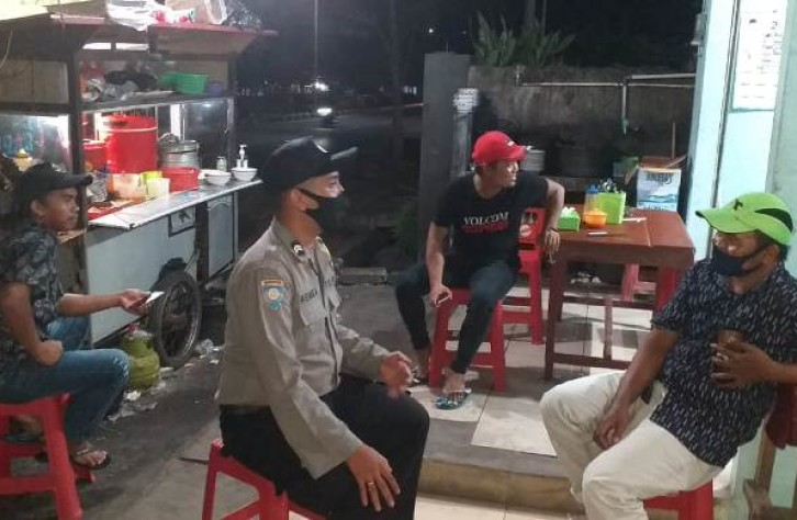 Secara Masif, Patroli Polsek Koba Ajak Masyarakat 3 M