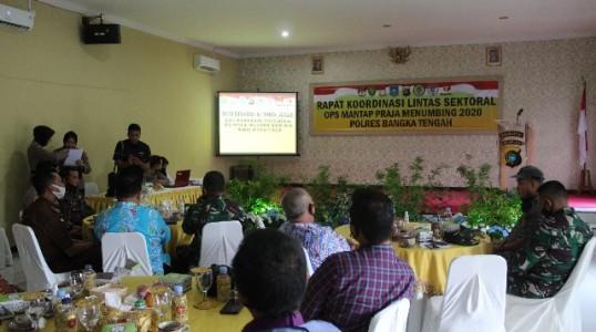 Polres Bangka Tengah Gelar Rapat Lintas Sektoral Pengamanan Pilkada Serentak 2020