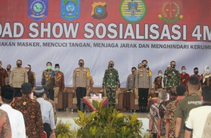 Road Show 4M di Bateng, Kapolda Tekankan Prokes Di Pasar dan Tempat Ibadah