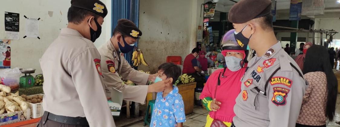 Cegah covid-19, polres Bangka tengah bersama TNI dan Pol PP gelar Ops Yustisi