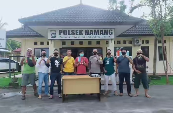 Gabungan Reskrim Polsek Namang dan Tim Tupai Polres Bateng amankan dua pencuri handphone