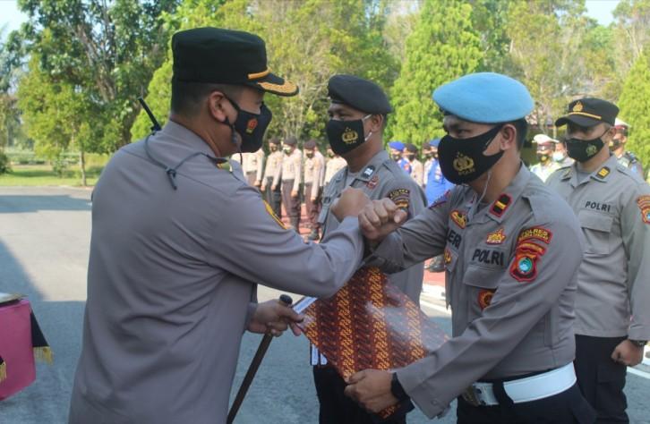 Polres Bateng terima penghargaan dari Kapolda dalam Penilaian Kerja Satker